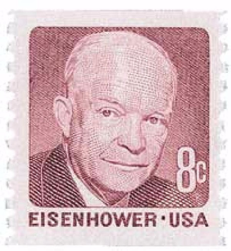 us sc #1402 - 1971 8c d.d. eisenhower, rotary con matasello.