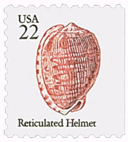 us sc #2118 - 1985 22c reticulated helmet con matasello.