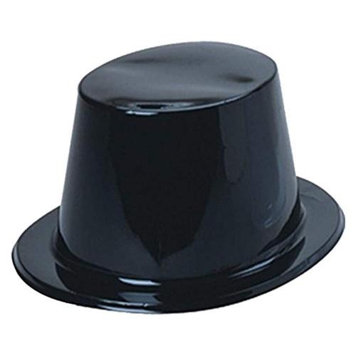 u.s. sombreros plasticos de juguete, paquete 12, negro