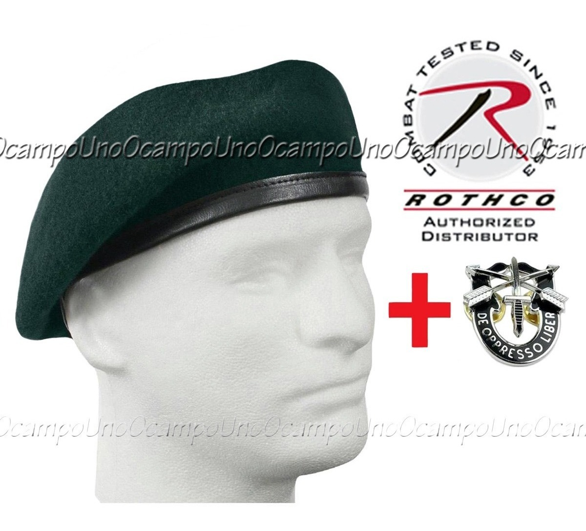 Us Special Forces Insign + Rothco Medium Green Beret  Nuevos