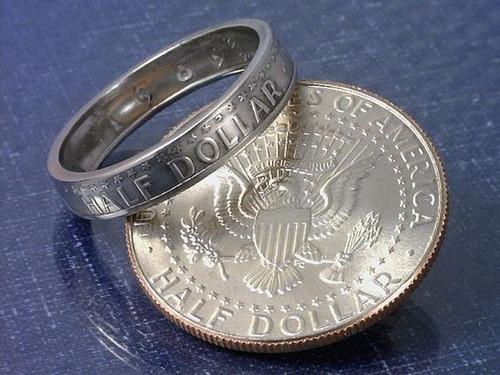 usa half dollar  anillo