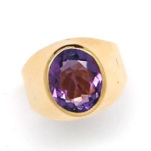 usa joias anel ametista dedinho ouro 18k - 10610 k850