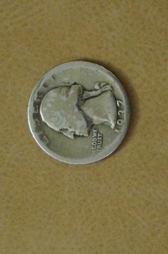 usa moeda de prata quarter dollar 1937 americana coleção