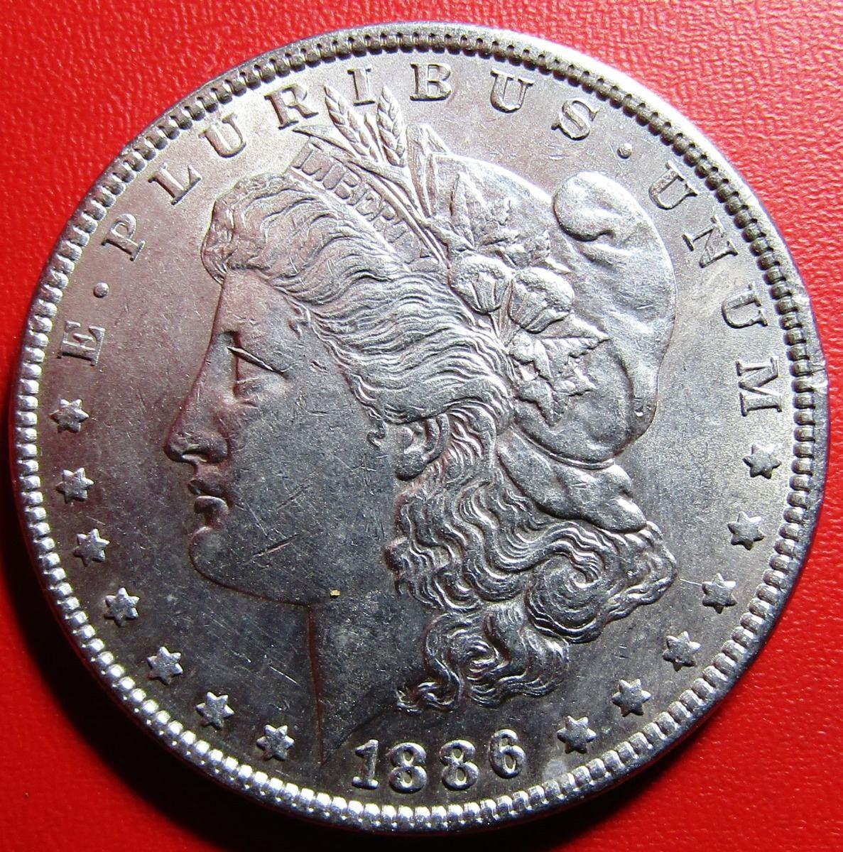 Usa Moneda 1 Dolar 1886 Plata Morgan Km
