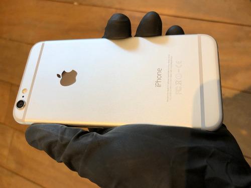 usado - iphone 6 16gb prateado + capa e película
