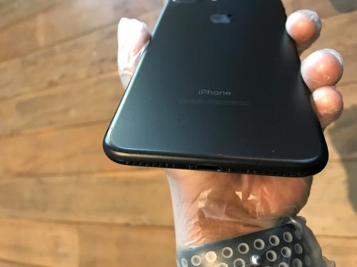 usado - iphone 7 plus 32gb black! brinde capa e película!