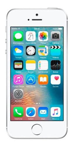 usado: iphone se 16gb prateado bom c/nf e garantia