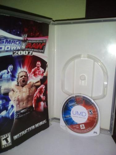 usado! smack down vs raw 2007 psp