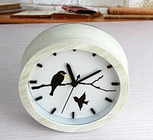 usany moda pájaros creativos casa color madera despertador r