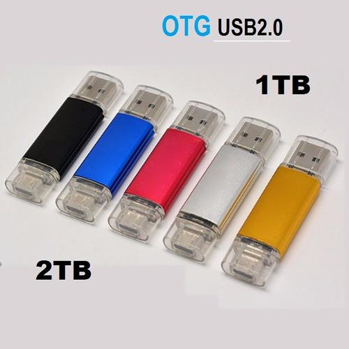usb 1tb 2tb dual 2.0 pc y movil flash memory stick