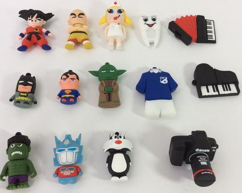 usb  8 gb formas muñecos figuras diseños mayor y detal