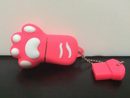 usb 8gb pata de gato rosada