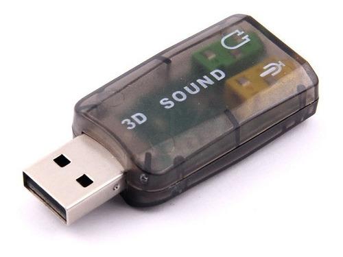 usb audio adaptador de tarjeta de sonido externa laptop pc