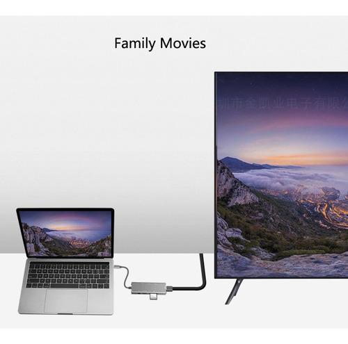 usb c hub adaptador hdmi macbook pro 4k micro sd mac win lin