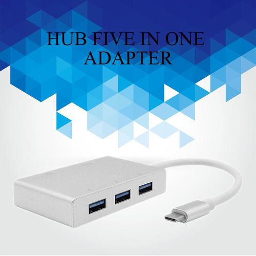 usb c tipo c a hdmi vga usb 3.0 cubo adaptador 5 en 1 usb a