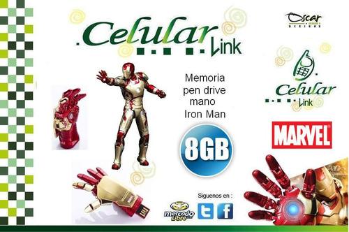 usb flash memory avengers 8gb mano iron man
