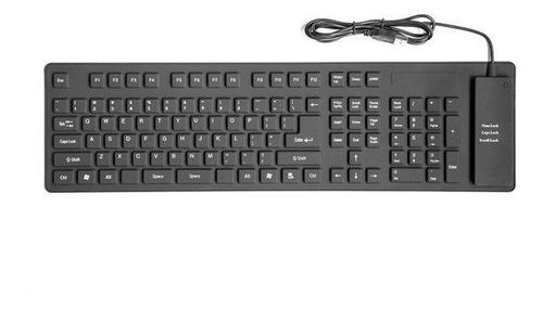 usb flexible teclado impermeable silicón flexible goma suave