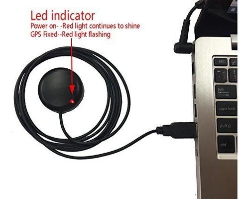 usb gps antena de antena gmouse para laptop pc coche marina