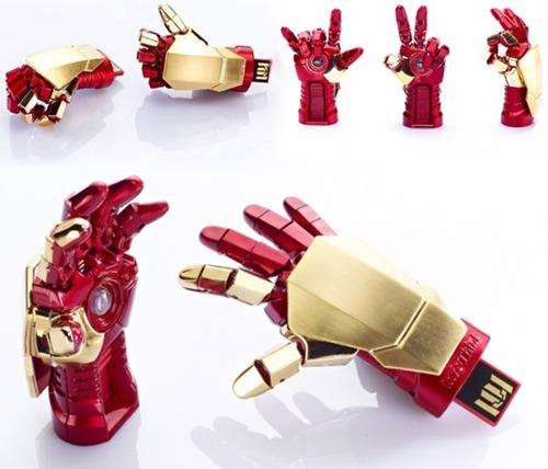 usb iron man 16 gb mano articulable iluminada - envío gratis