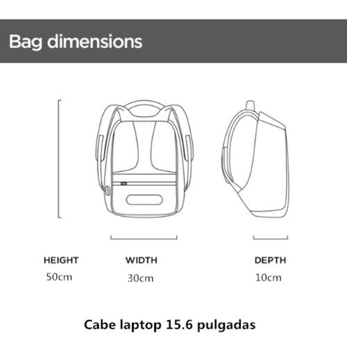 usb mochila antirrobo una prueba de agua computadora portát