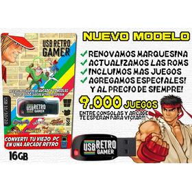 Usb Retro Gamer + De 8500 Juegos Retro En Tu Pc Arcade!