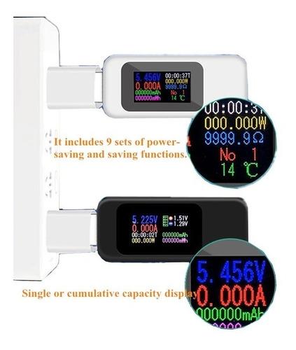 usb tester arduino probador de voltímetro digital medidor