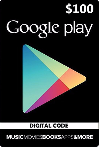 usd 100 google play gift card se  acepta tarjeta credito