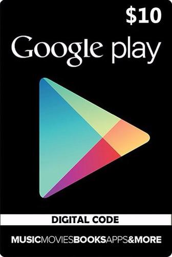 usd10 google play gift card se  acepta tarjeta credito