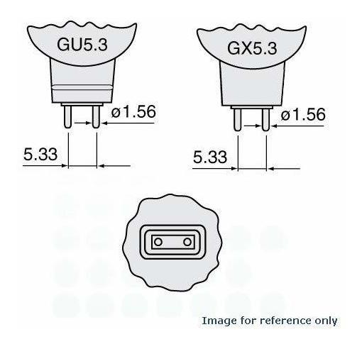 WATTS 150 Base GX5.3 GX5.3 USHIO 1000306 MR16 JCR JCR21V-150W Volts 21 GU5.3 Base