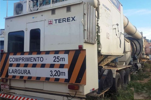 usina de asfalto terex magnum 140 ano: 2010