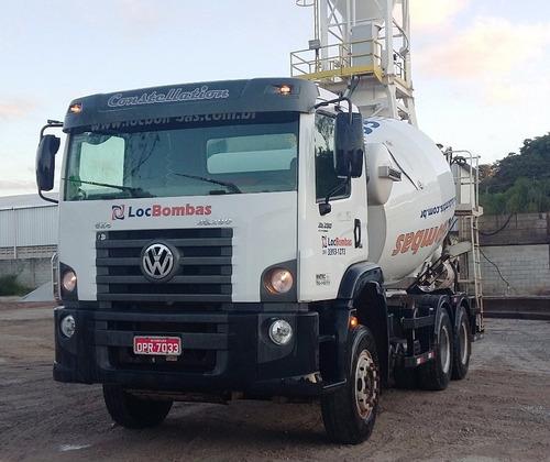 usina de concreto e caminhões betoneira para locação