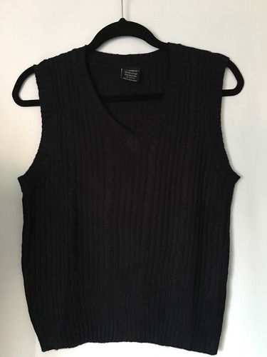 u.s.polo assn sweater chaleco s/manga azul marino 12-14