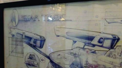 uss enterprise a star trek poster p/quadro de parede- kirk