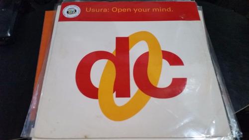 usura open your mind vinilo maxi 1992 uk clasico