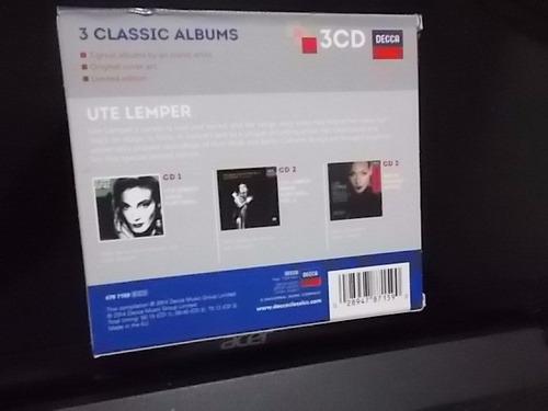 ute lemper, box 3 cds classic albuns, 2014