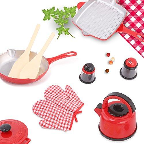 Utensilios de cocina juego de platos y sartenes para ni os for Juego utensilios cocina