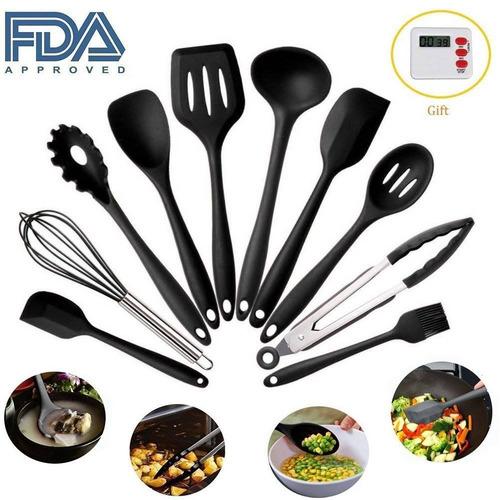 utensilios de cocina set - 10 piezas de utens + envio gratis