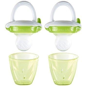utensilios munchkin del alimentador del bebé, verde, 2 co..