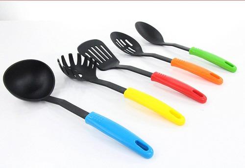utensilios set 5pc colores multicolores gadge + envio gratis