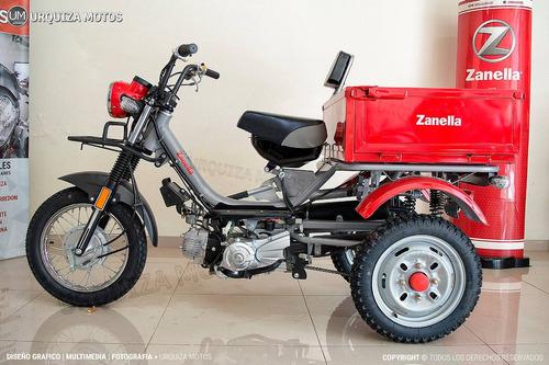 utilitario zanella tricargo 100 4t respaldo urquiza motos
