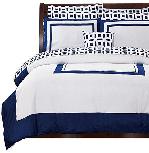 Utop a de cama queen juego de dormitorio azul 8 piezas for Juego de dormitorio queen