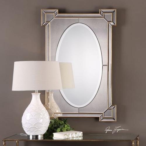 uttermost matilda antiqued gold espejo