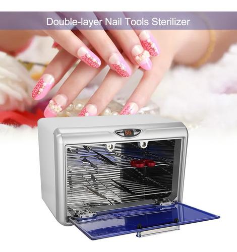 uv gabinete esterilizador salón de uñas arte desinfección