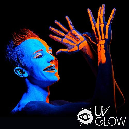 uv glow blacklight face y body paint 0.34