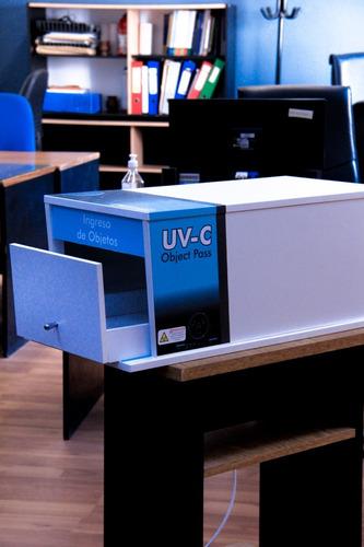 uvc box desinfección de papeles con luz uv-c
