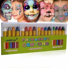 Uveefun Pintura Facial De 16 Colores Para La Cara Y El Cuerp
