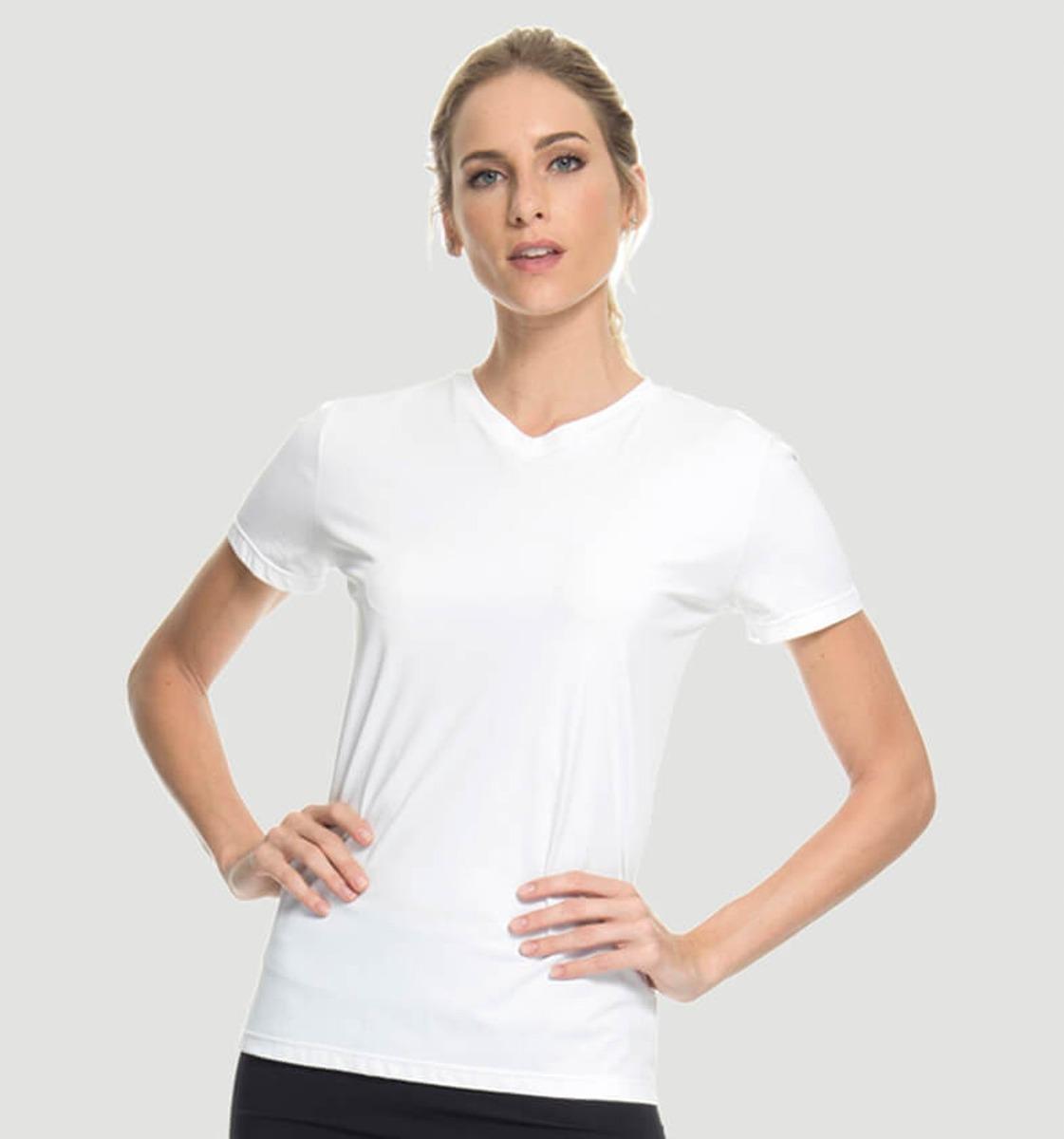 uvline camiseta sport fit mc feminino branco proteção solar. Carregando  zoom. 6046629c91a