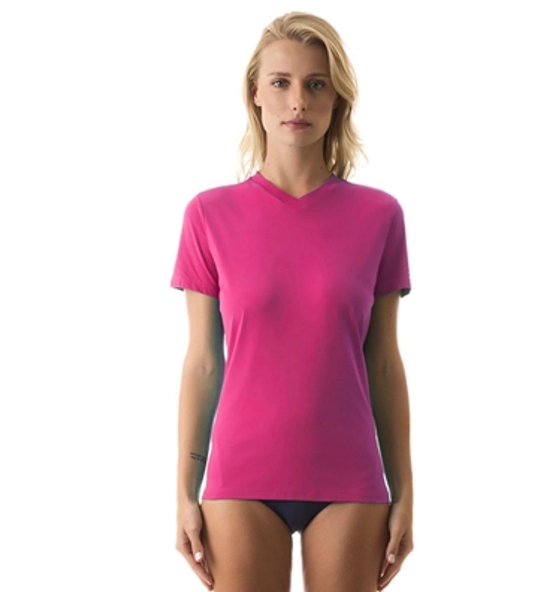 uvline camiseta sport fit mc feminino magenta proteção solar. Carregando  zoom. f2846715aeb