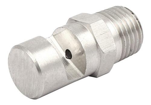 uxcell 1 / 4bsp acero inoxidable 304 gran angular chorro pla