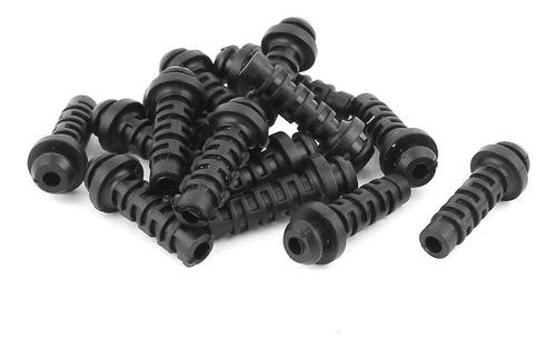 uxcell 15 piezas de goma de alivio de tensión alambre de la